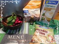 Pudding de chia, cerise & amande