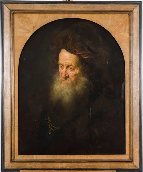 Enregistré sous la référence MNR 489, cette tête de vieillard de Govert Flinckest est exposé au musée Crozatier depuis 1967. Crédit photo Luc Olivier Musée Crozatier.
