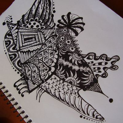 Another Zentangle...on the beach