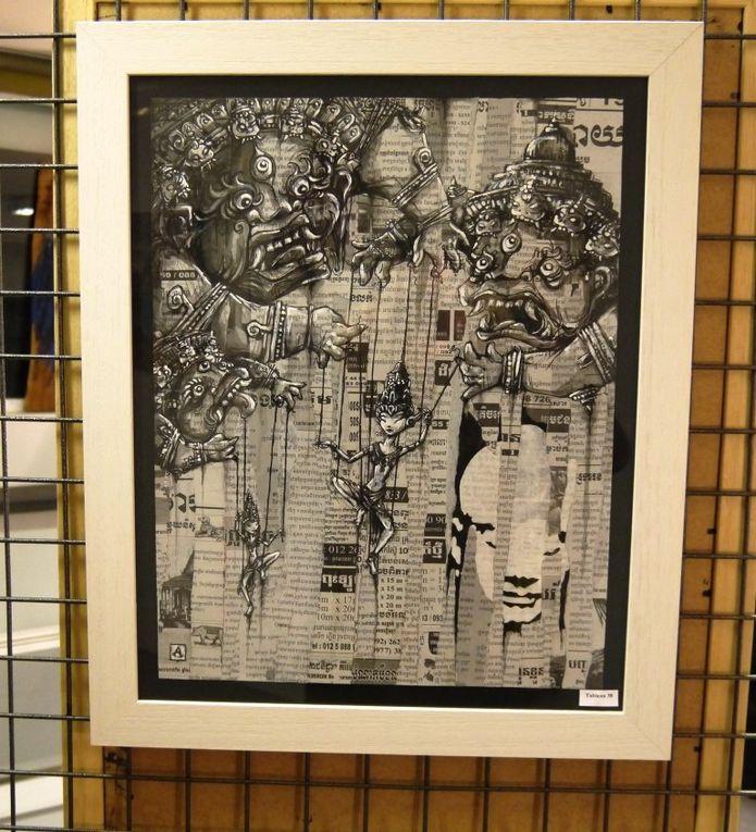 Exposition à la Galerie de l'Atelier d'Encadrement jusqu'au 9 Janvier 2014. Des oeuvres originales, peintures et collages à partir de 30 €.