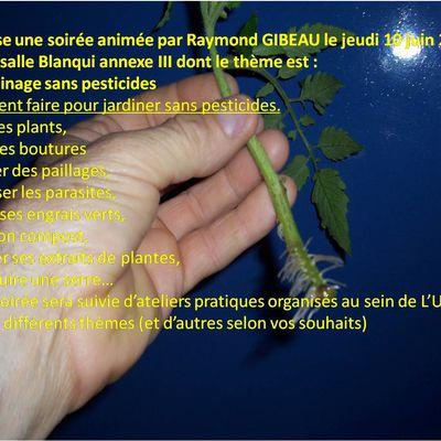 l'université populaire de LIMOGES propose une conférence sur le jardinage sans pesticides