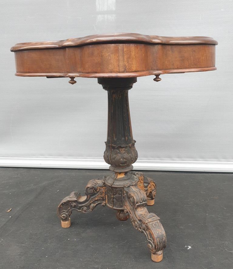 TABLE DE SALON VIOLON ACAJOU LOUIS PHILIPPE 1830  - 220 euros