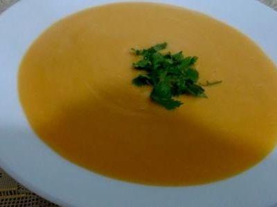 recette du Soupe au potiron carotte et gingembre