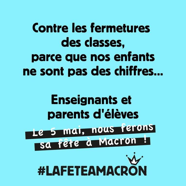 APPEL aux ROCHELAIS : le 19 avril tous à l'AG pour préparer la fête à Macron !