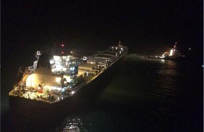 Un vraquier en difficulté remorqué au large de Boulogne-sur-Mer