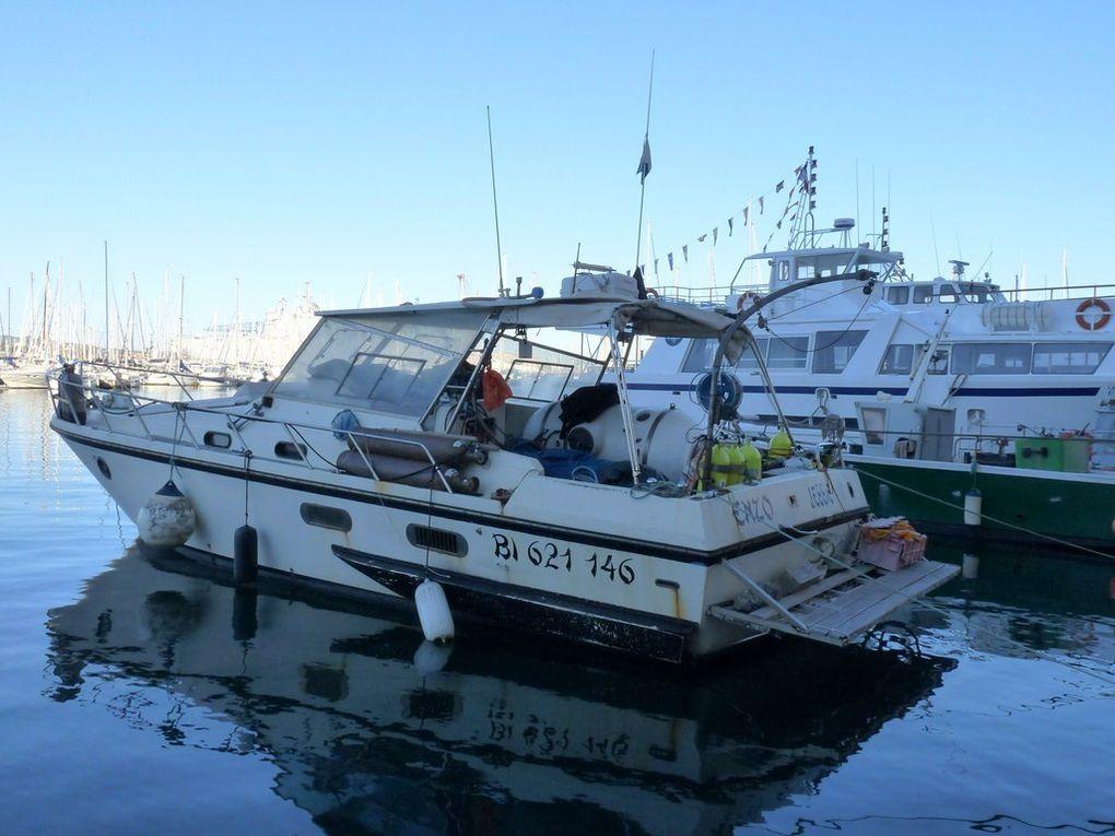 ENZO JESSY III , bateau de plongeurs dans le port de Toulon