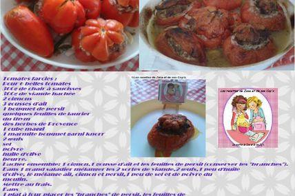 Tomates farcies suivant une recette de mon grand frère Jean-Luc ex Cuisinier