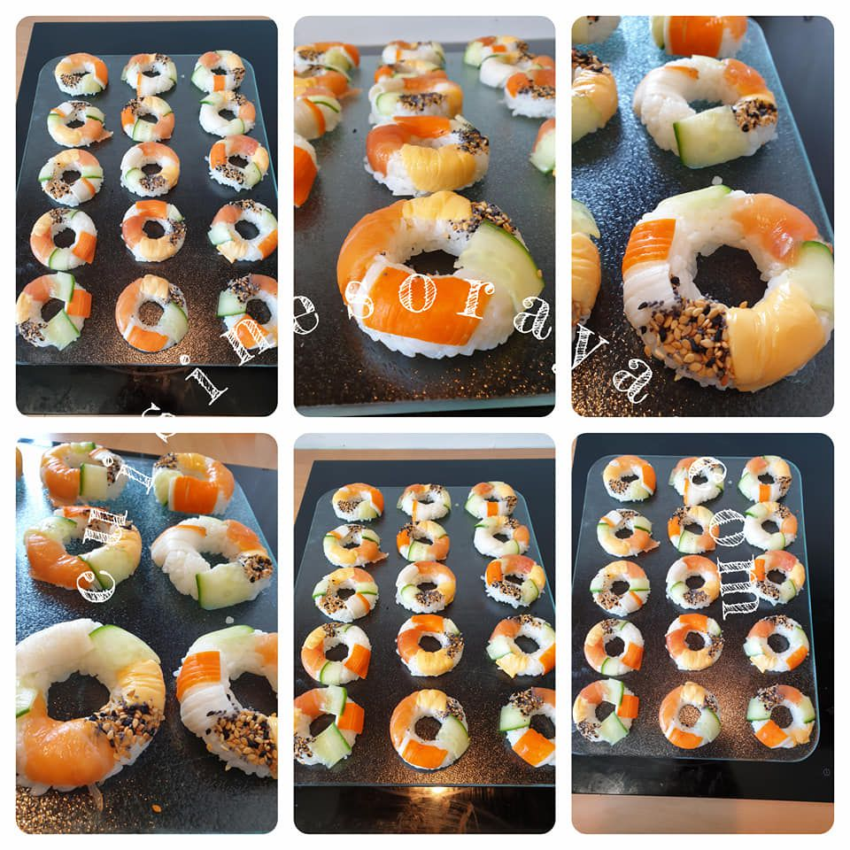Sushis en forme de donuts