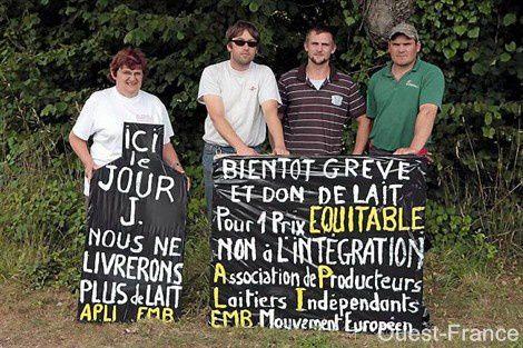 """Déclarations des évêques bretons au sujet de la crise laitière : """"Reconnaissons la mission des agriculteurs"""""""