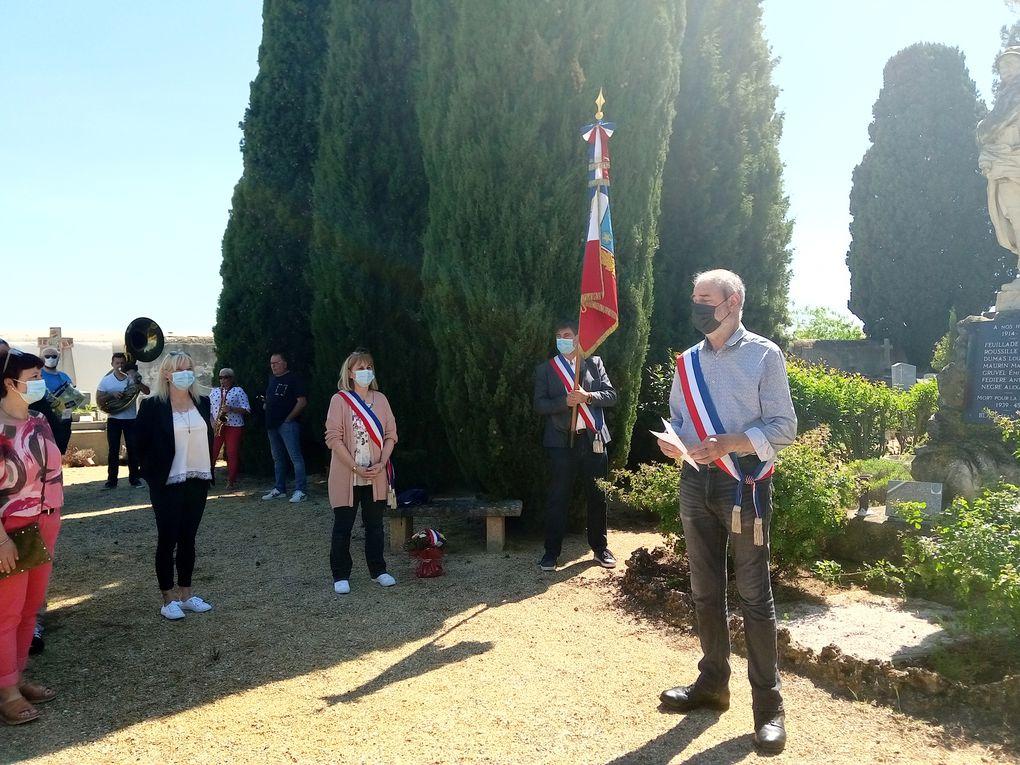 Commémoration du 8 mai au Monument aux Morts