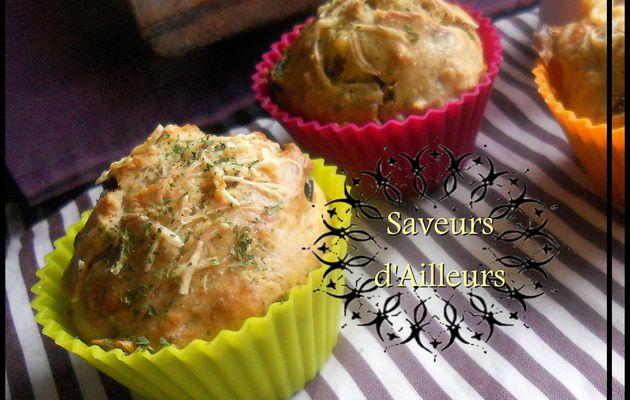 Moelleux Muffins au thon & aux olives