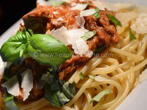 Spaghetti Al Ragù-Spaghetti Sauce Bolognaise