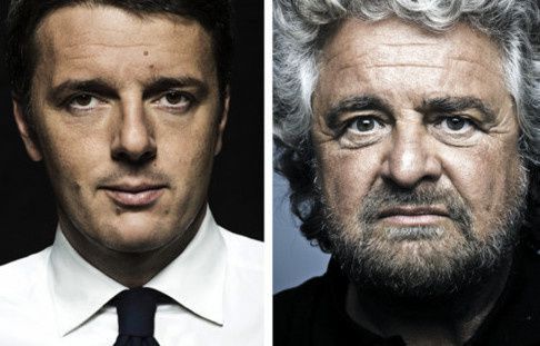 Il match in streaming Grillo-Renzi