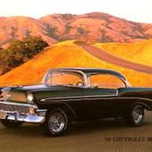 CARTE POSTALE CHEVROLET BEL AIR 1956 CP CHEVY BELAIR - car-collector.net