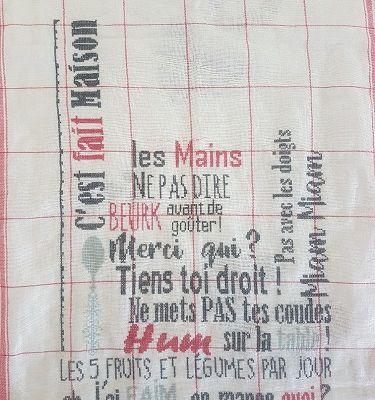 Torchon du Livre d'Amélie, ma nouvelle correction