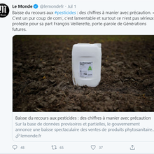 Étonnant: on peut être (presque) d'accord avec Stéphane Veillerette et François Foucart sur les ventes de pesticides