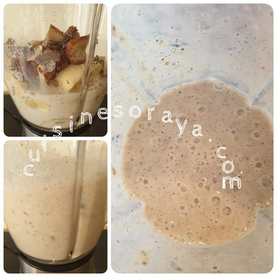 Smoothie Energie dattes bananes