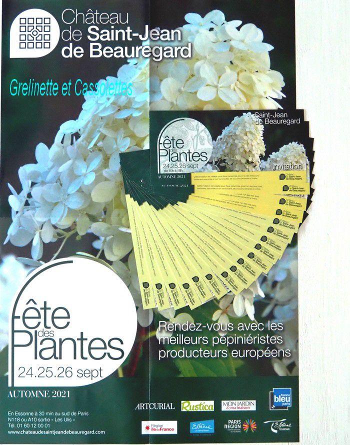 Jeu Concours pour Gagner vos invitations pour la Fête des Plantes d'Automne de Saint Jean de Beauregard