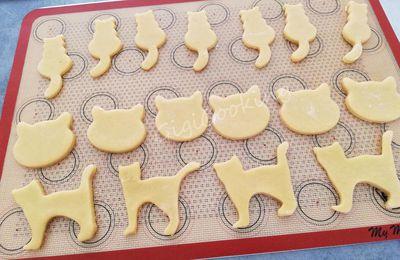 Biscuits sablés chats