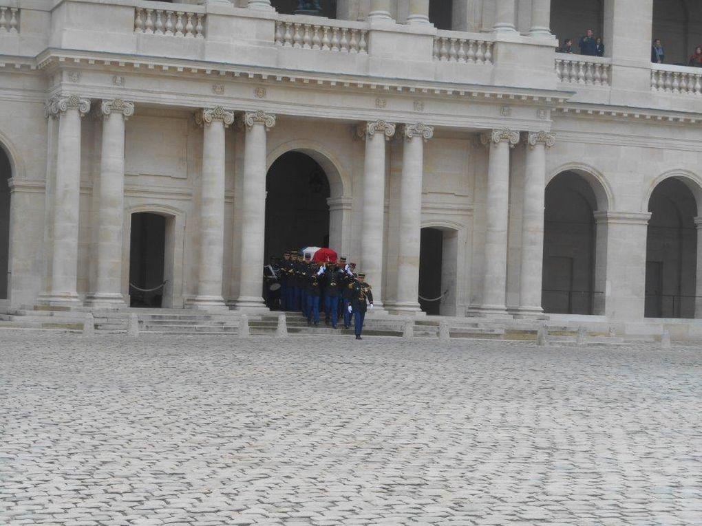 Obsèques de François Perrot, ce jour aux Invalides (clichés Alain Goussard).