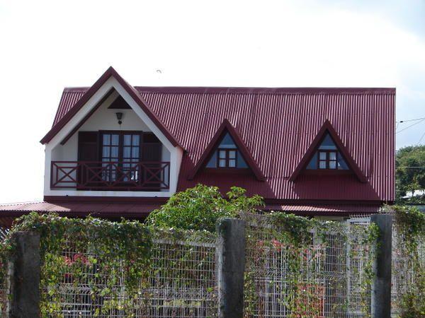les maisons sur l'île de La réunion