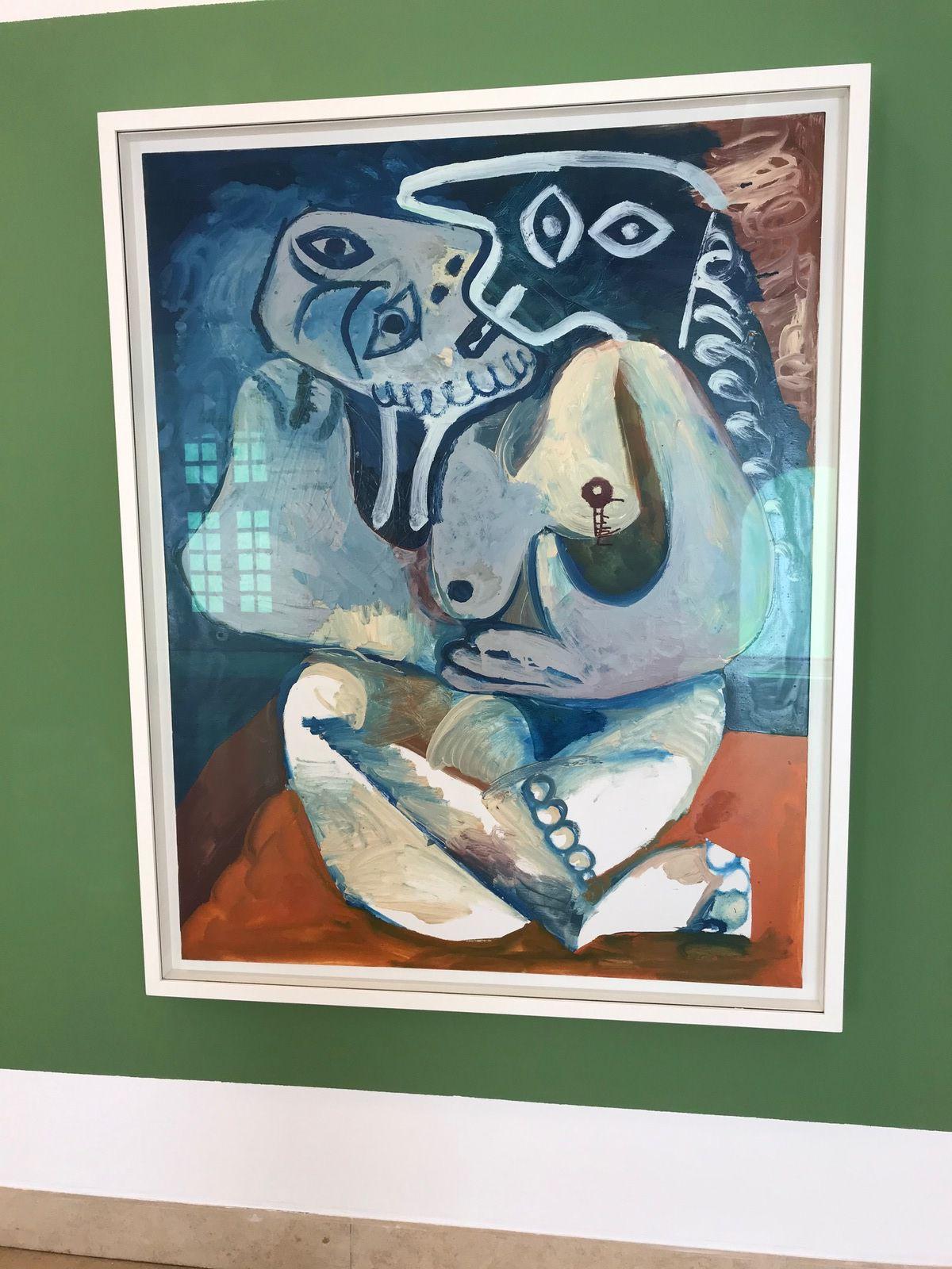 L'étreinte – (Mougins , 1970) -Huile sur toile