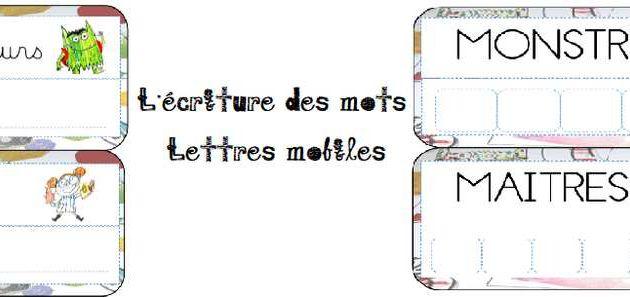 Ecriture et lettres mobiles