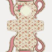 Oh My Fiesta! in english: Shabby Chic Teapot Free Printable Boxes.