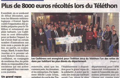 Plus de 8000 euros récoltés lors du Téléthon