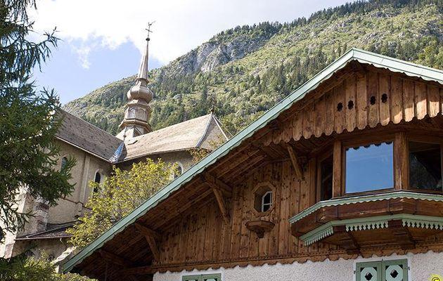 L'église d'Abondance ( dans les Alpes )
