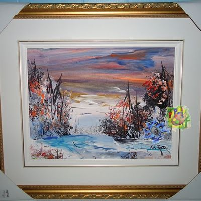 Pierre-Paul Fortin : paysage d'hiver