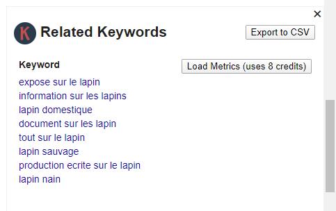 2 alternatives gratuites à Keywords Everywhere