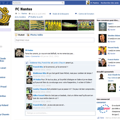 LE FAKEBOOK DU FC NANTES - JANVIER 2012