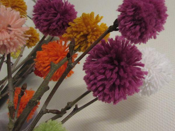Bouquet de pompons DIY