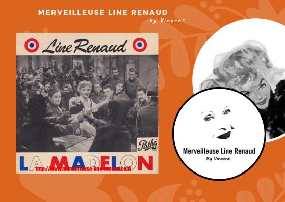 45 TOURS: 1955 Pathé - 45 EG 168 - Line Renaud La Madelon (3e Edition)