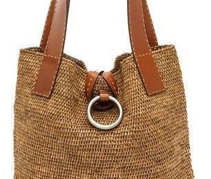 Michael Kors Collection Janey Ring XL Tote #michaelkors #straw #tote #purse #bag... -