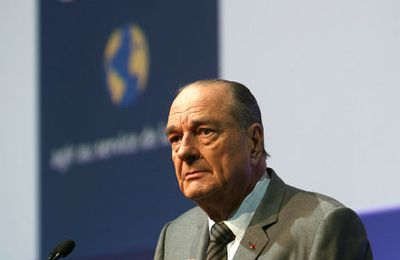 Jacques Chirac au salon Planète Durable