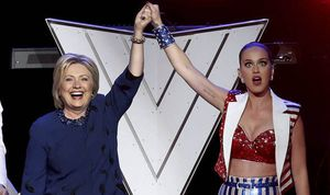 Presidential candidate Hillary Clinton has received celebrity backing from Katy Perry