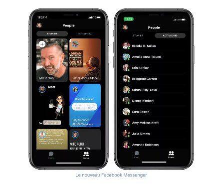 Mobile : Facebook Messenger se rafraîchit et devient plus épuré