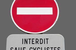 Cyclistes : réglementation pour les sens interdits
