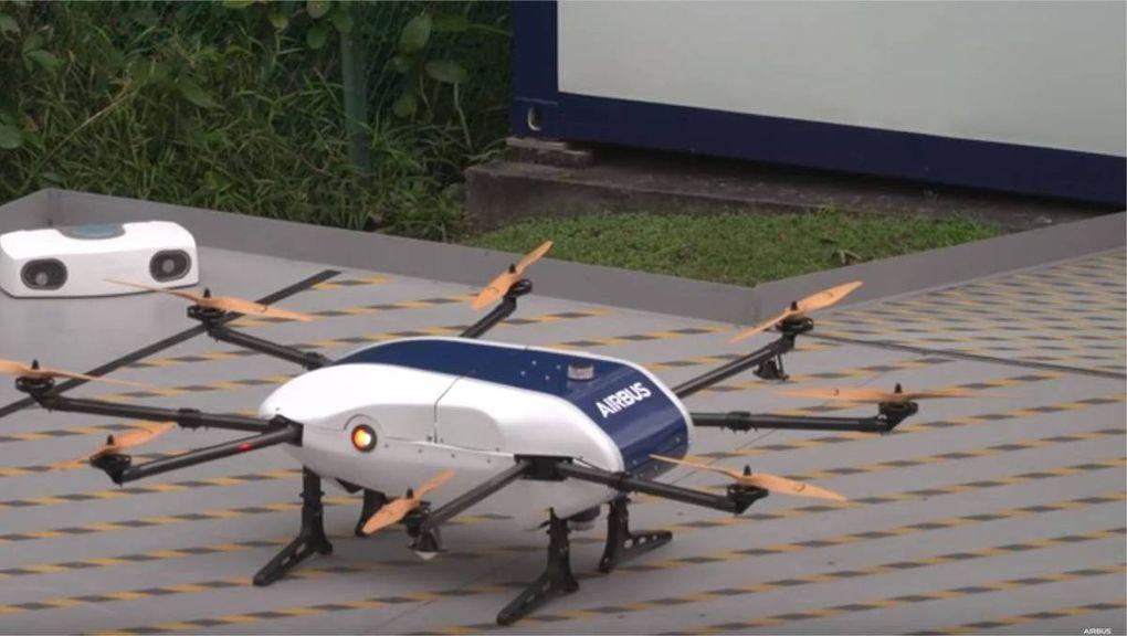 Projet Skyways – Airbus teste un drone de livraison pour les navires !