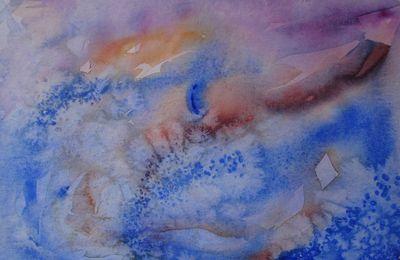 abstrait bleu # II