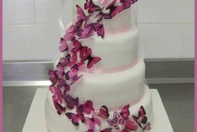 Wedding cake papillons...