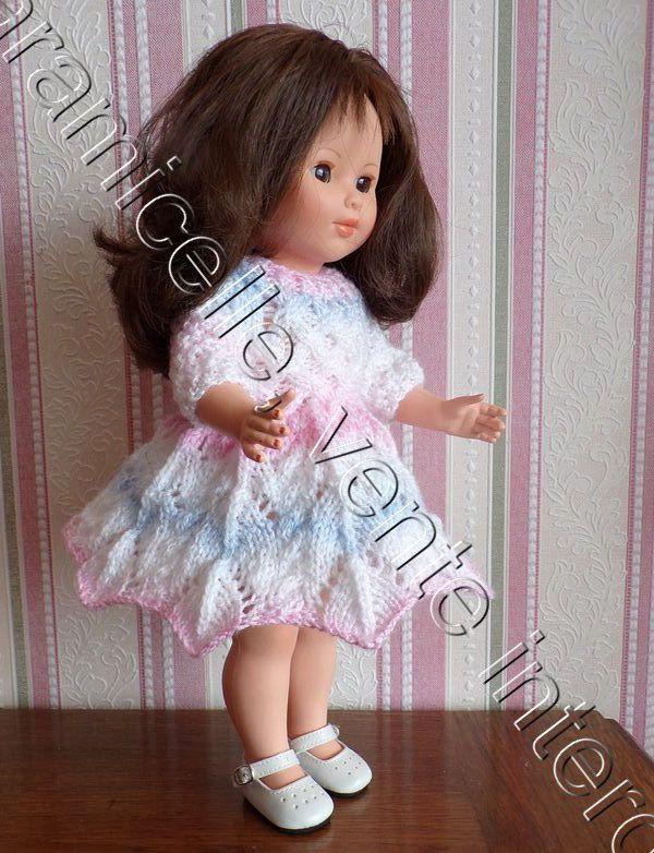 tuto gratuit poupée : robe ombrelle aux torsades