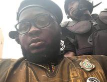 Arrestation d'Egountchi Behanzin devant l'ambassade de France sur ordre de l'état français