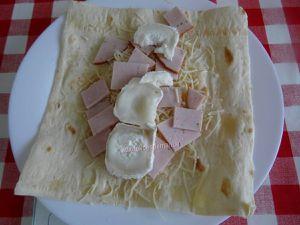 Wraps chauds de dinde et fromages