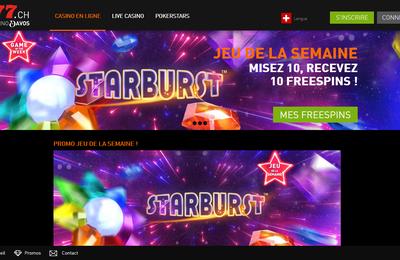 Gagnez des free spins avec le jeu de la semaine sur Casino 777 : la machine à sous Starburst