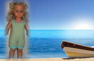 Sophie à la plage