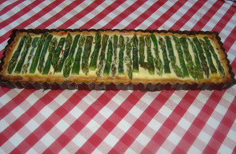 Flan poivron - asperges