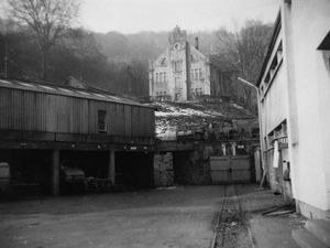 L'entrée de la mine La Paix à Algrange (ex Ste Barbe)